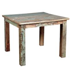 Small Wood Kitchen Table Industrial Supplies Rustic Reclaimed Distressed Dining