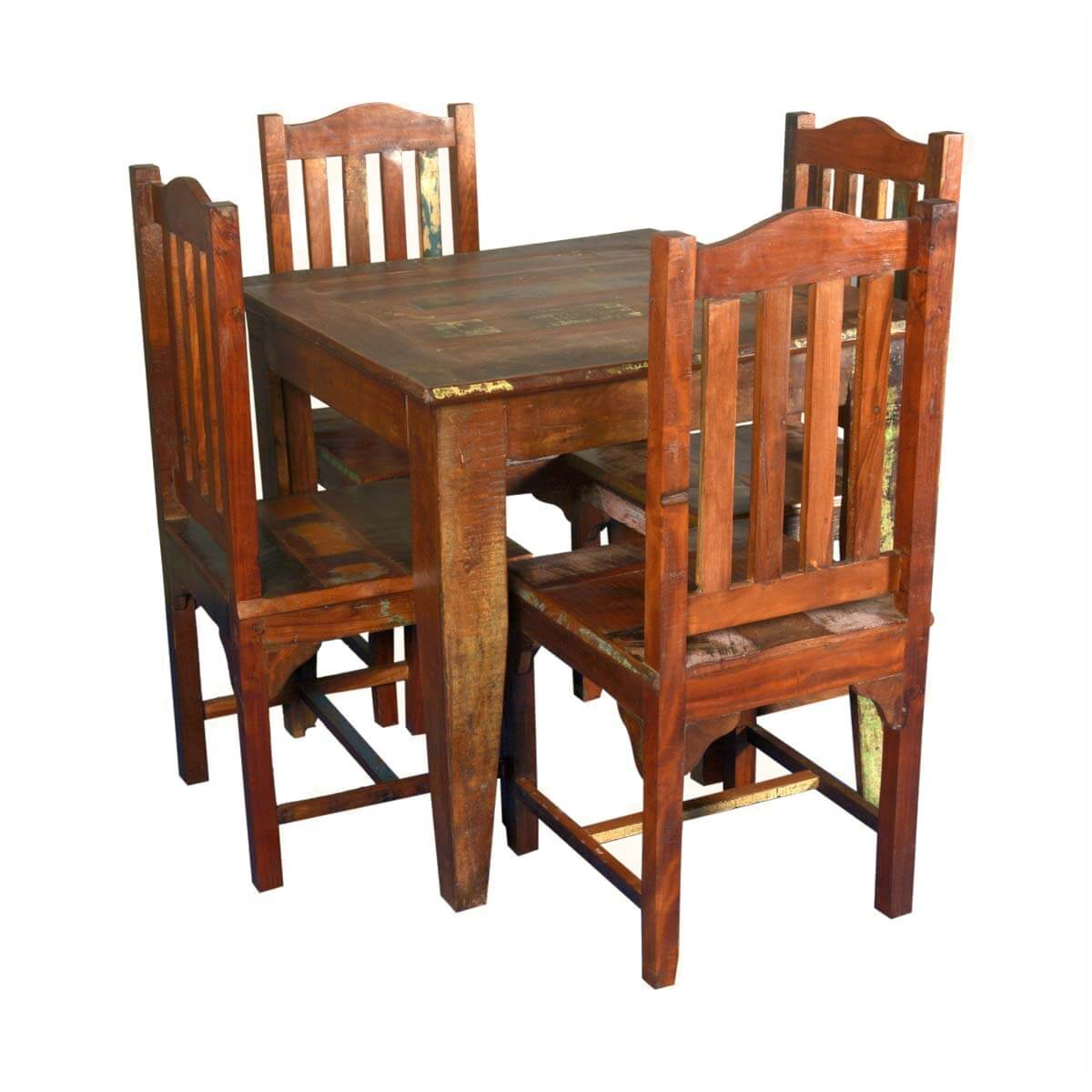 small wooden chair modern bean bag chairs norwalk reclaimed wood square dining table with 4 set