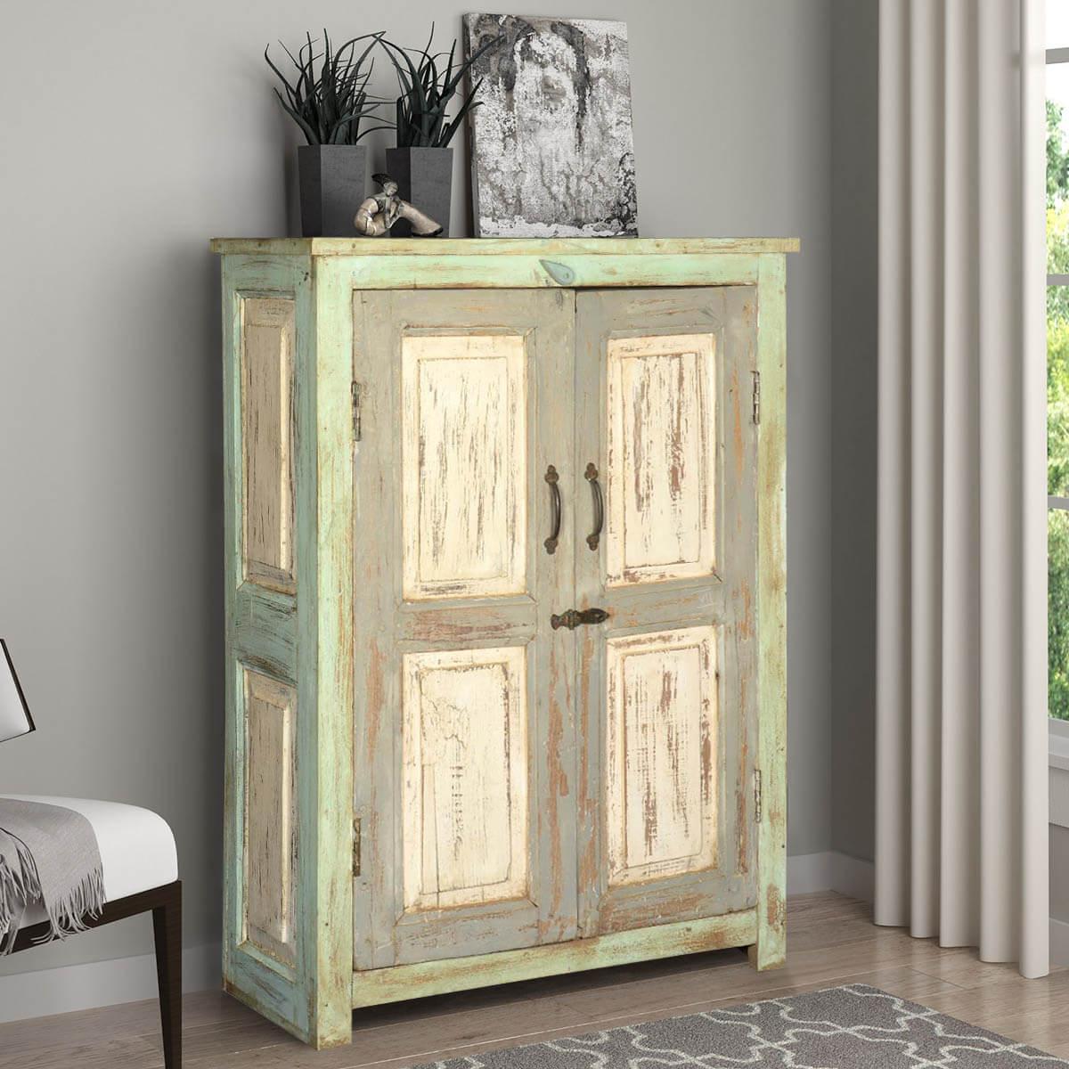 Whitney Reclaimed Wood 2 Door Distressed Storage Cabinet