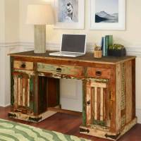 Gothic Rustic Solid Reclaimed Wood Office Desk