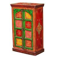 Camillus Hand Painted Mango Wood Freestanding Storage Cabinet
