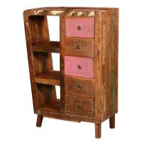 Rustic Reclaimed Wood 5 Drawer Storage Cabinet w Display ...