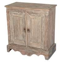 Pennsylvania Dutch Rustic Reclaimed Wood 2-Door Cabinet