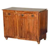 Bolton Solid Wood Rustic Buffet Wine Rack Cabinet
