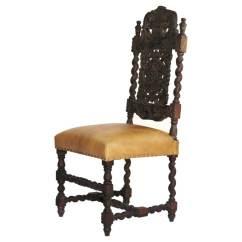 Wooden Hand Chair Bali Hanging Yoga Royal Elizabethan Solid Wood Upholstered Carved Side