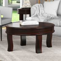 "Full Moon Solid Wood 36"" Round Coffee Table"