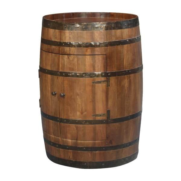 Fashioned Rain Barrel Mango Wood & Iron Novelty