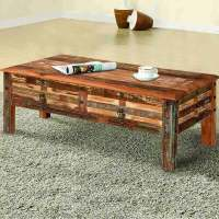Pioneer Rustic Reclaimed Wood 2 Drawer Coffee Table