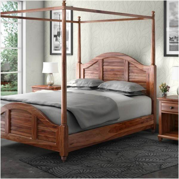 Solid Wood Canopy Bed