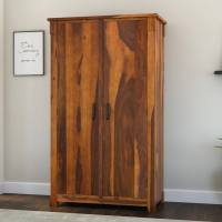 Modern Farmhouse Two Door Solid Wood Armoire Storage Cabinet