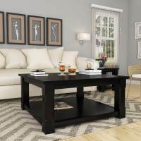 Brimson Contemporary Style Solid Wood 2 Tier Square Coffee ...