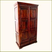 Wardrobe Closet: Large Wood Wardrobe Closet