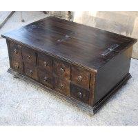 UNIQUE Pillbox Storage Box Trunk Living Room Coffee Table ...