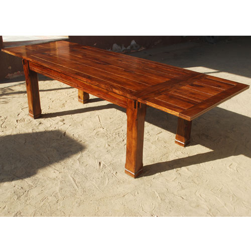Rustic Dining Table Solid Wood Large Family Contemporary