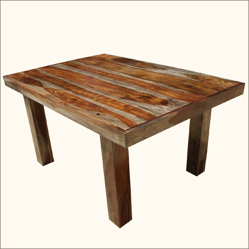 """60"""" Solid Wood Contemporary Rustic Dining Room Table"""