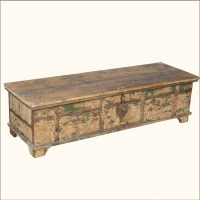 Large Rustic Reclaimed Distressed Old Wood Coffee Table ...
