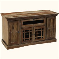 Contemporary Wood Entertainment TV Stand Media Center ...