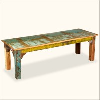 Reclaimed Wood Rustic Indoor Outdoor Patio Bench Seat ...
