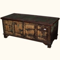 Storage Box Coffee Table Rustic Distressed Reclaimed Wood ...
