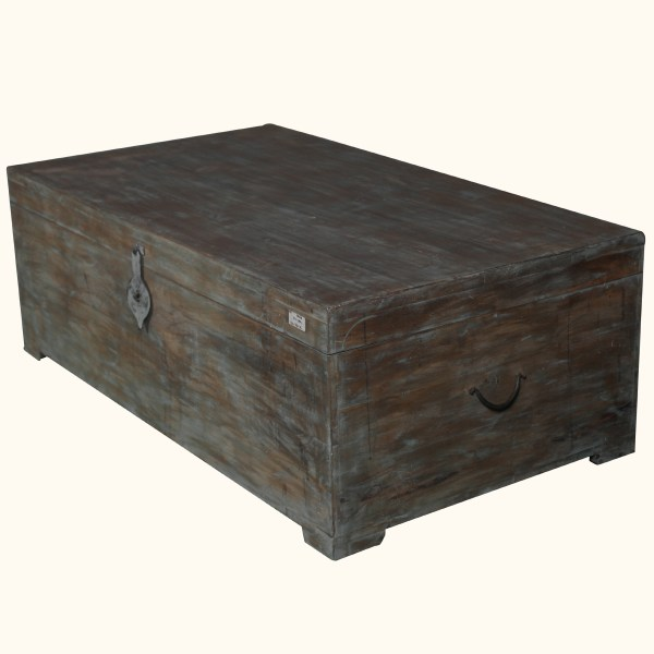 Distressed Wood Trunk Coffee Table