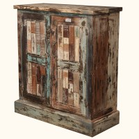 Rustic Old Reclaimed Wood Distressed Storage Buffet ...