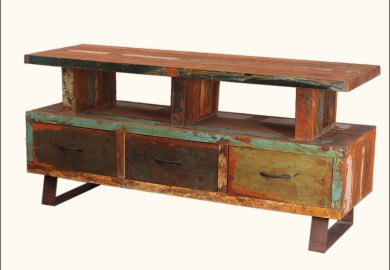 Reclaimed Wood Tv Console Table