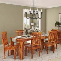 Idaho Modern Rustic Solid Wood Dining Table & Chair Set