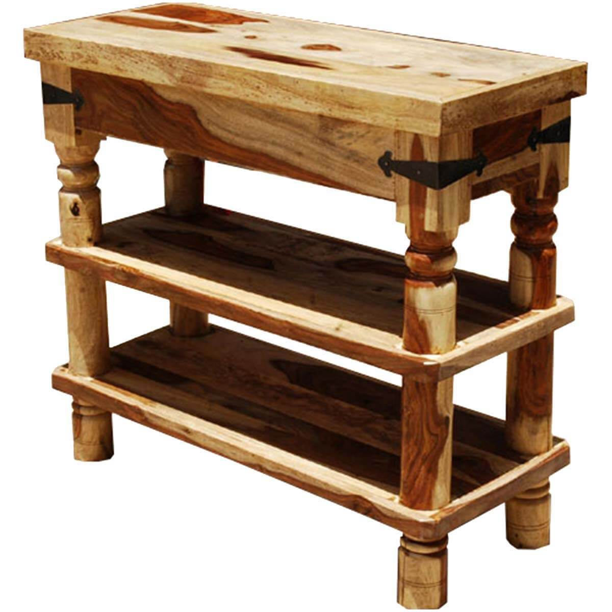 rustic cream sofa table loveseat appalachian 3 tier hall console