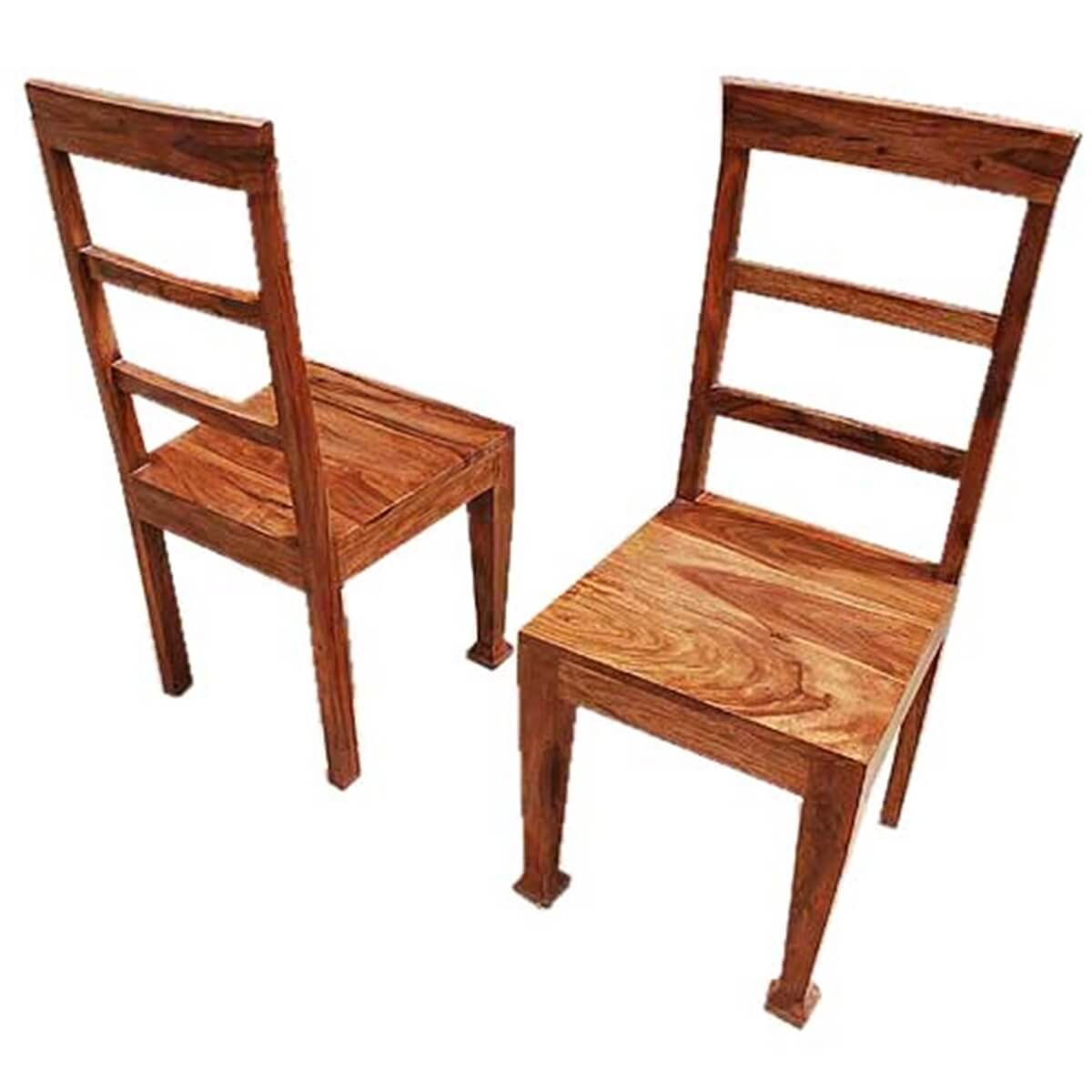 set of dining chairs personalized makeup artist chair rustic furniture solid wood table and