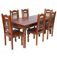 Philadelphia Dining Room Table and Chair Set w Wrought ...