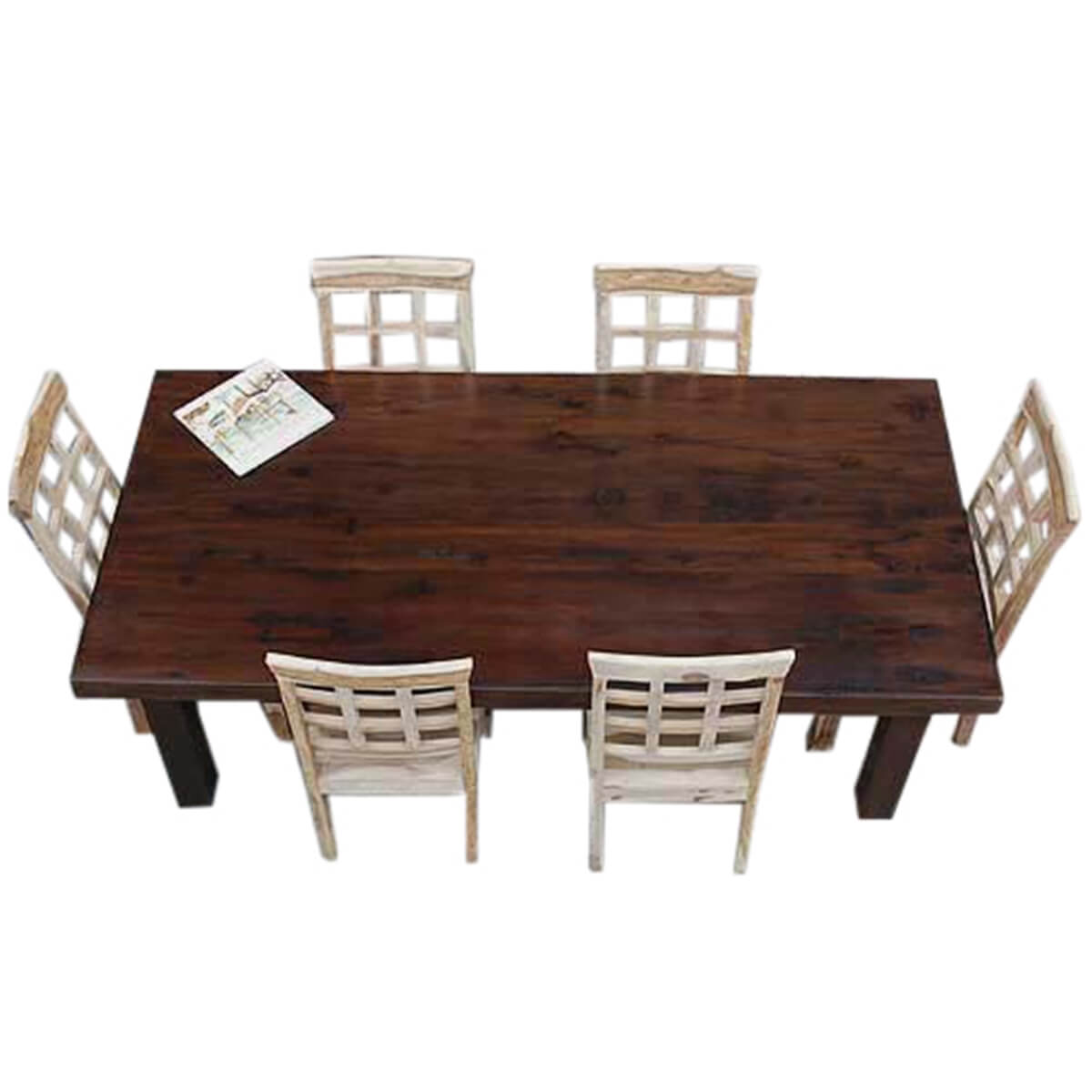 rustic dining table and chairs cape cod chair company santa fe solid wood set for