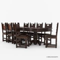 Solid Wood Dining Room Table And Chairs Tall Breakfast Nottingham Large Rustic Chair Set