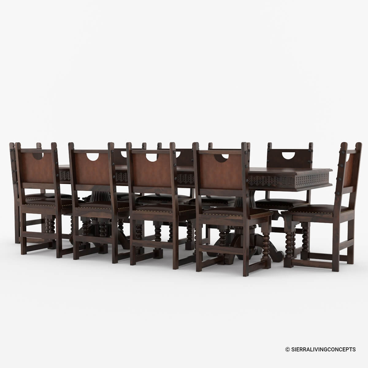 solid wood dining room table and chairs chair pad covers nottingham large rustic set