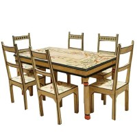 Hand Painted Dining Table And Chairs | Brokeasshome.com