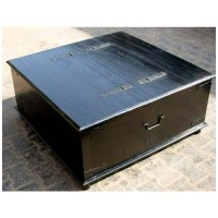 Black Square Wood Storage Trunk Chest Box Coffee Table