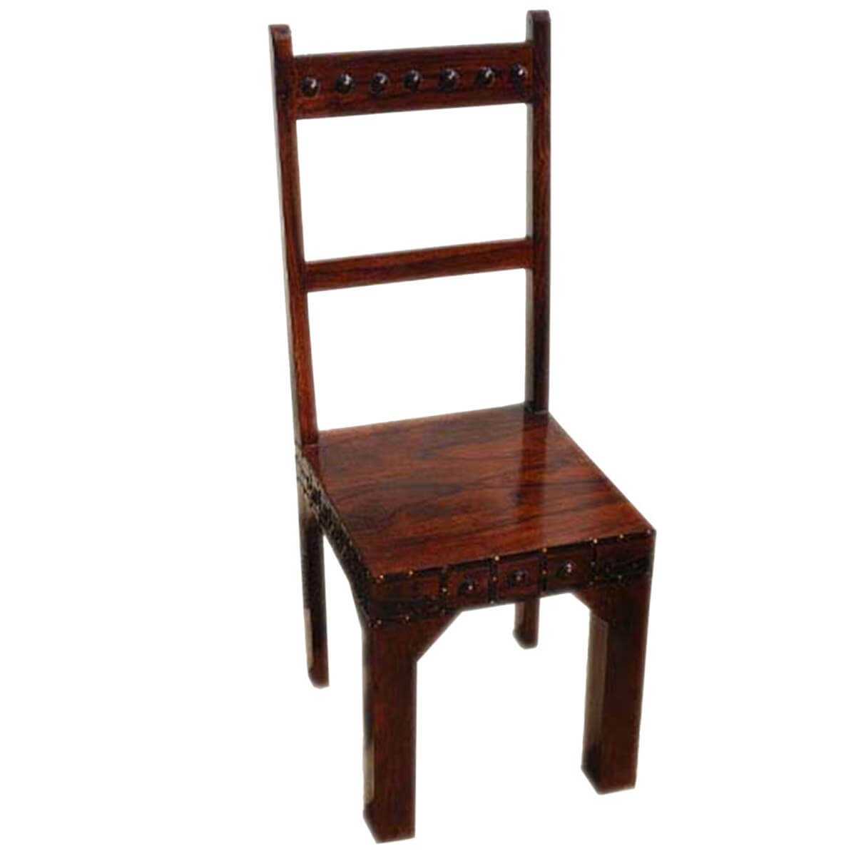 rustic dining chair bungee at target solid wood camelot handcrafted school back