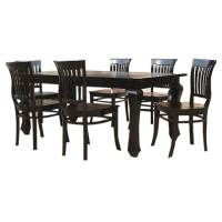 Kansas City Solid Wood Kitchen Dining Table with School ...