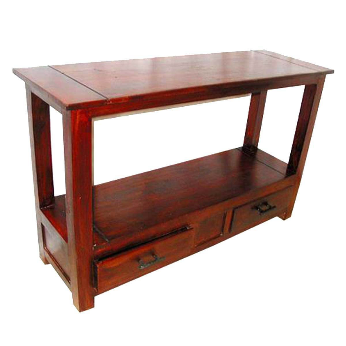 solid cherry sofa table high end sleeper wood console hall entry foyer furniture