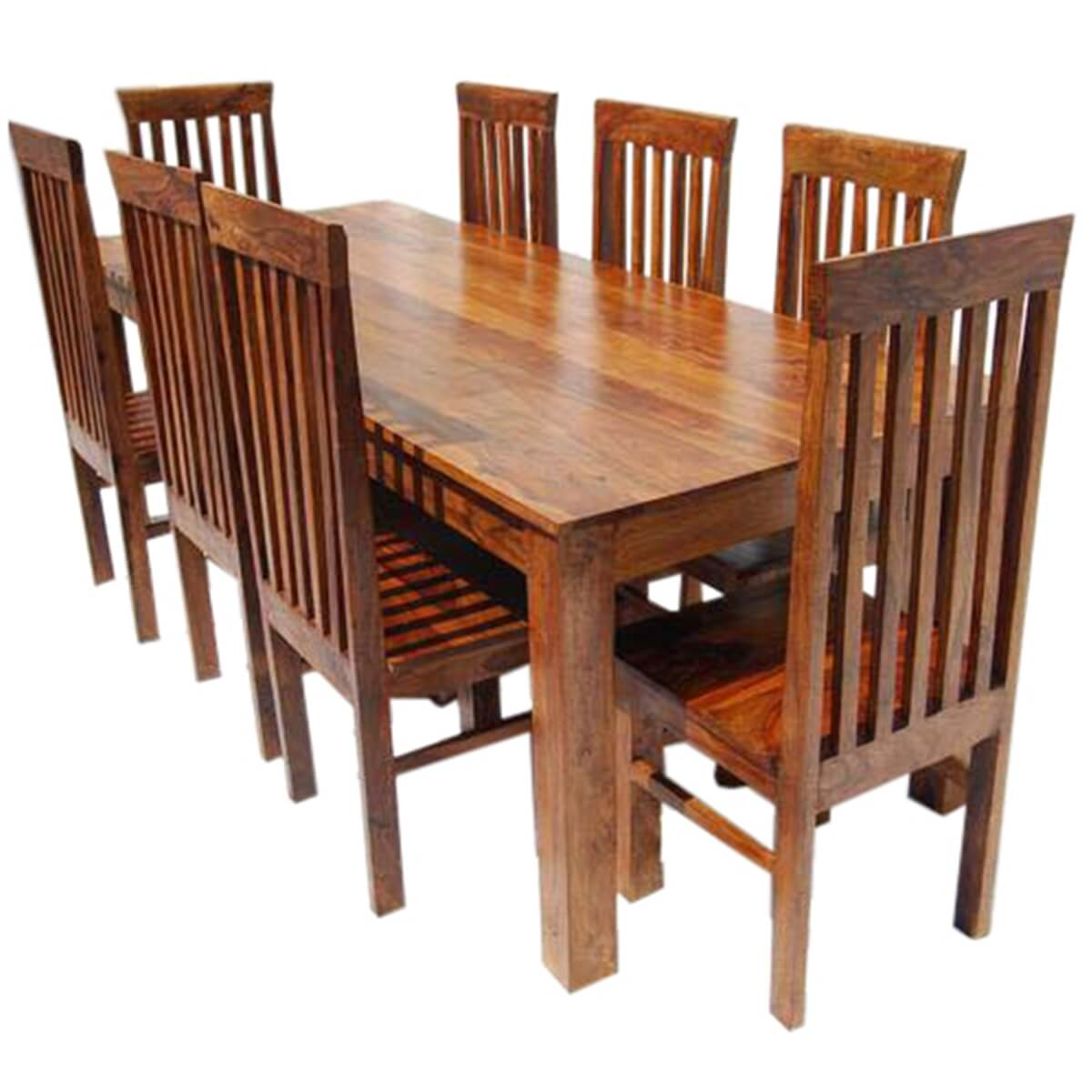 rustic dining table and chairs rope rocking chair classic lincoln study set