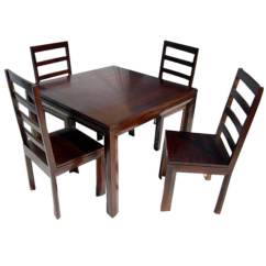 Solid Oak Dining Table And Chairs Top Gaming Wood Transitional Set