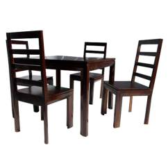 Solid Wood Dining Table And Chairs Graco Folding High Chair Transitional Set