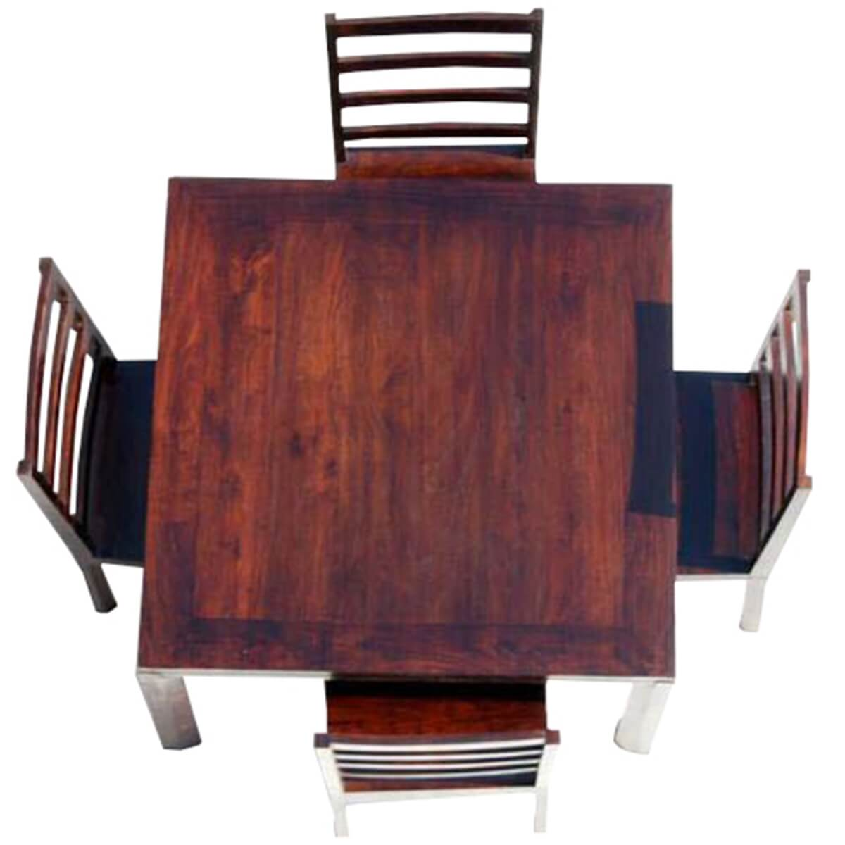 solid wood table and chairs ivory ruched chair covers transitional dining set
