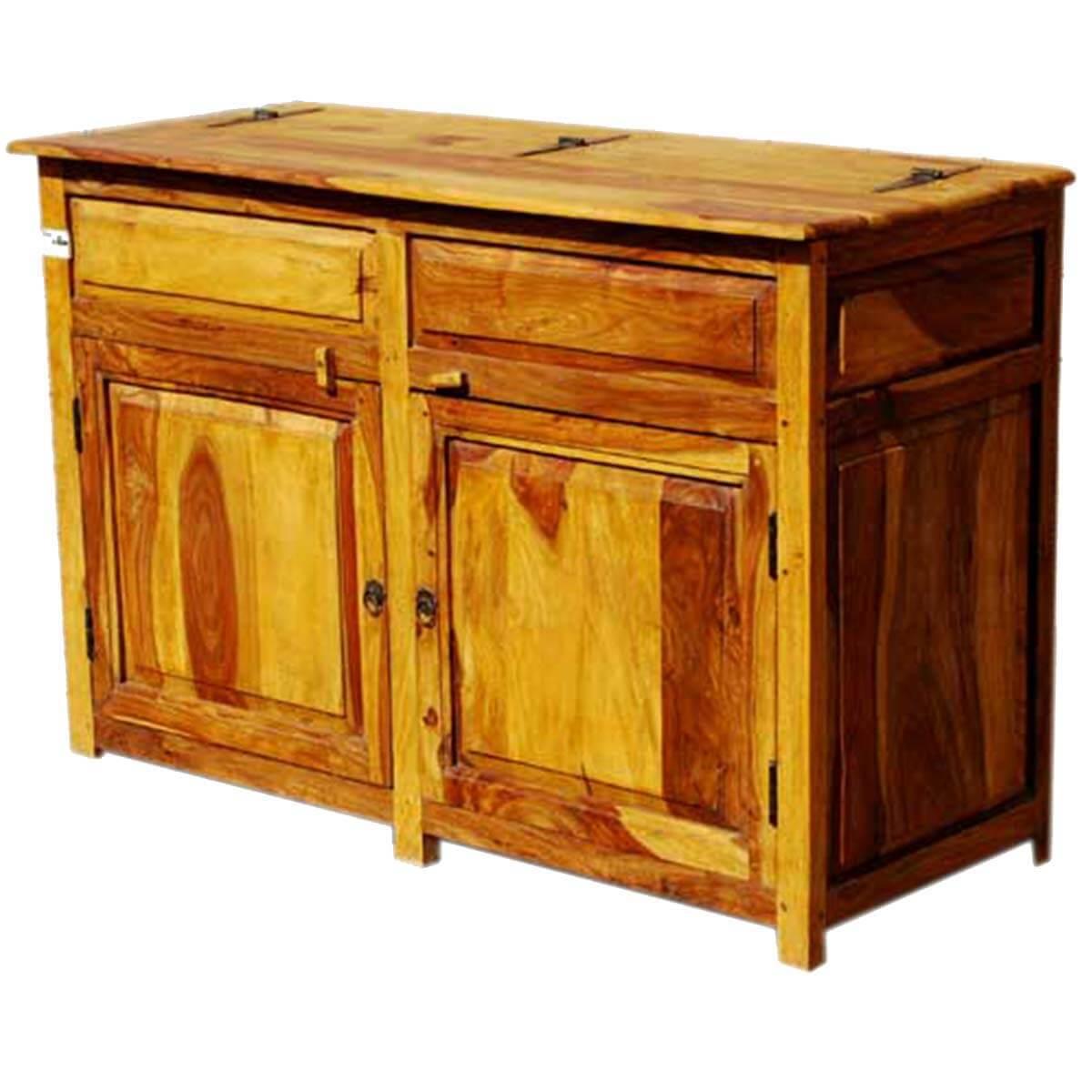 kitchen buffet storage cabinet kohler faucets home depot dallas ranch rustic solid wood 2 door