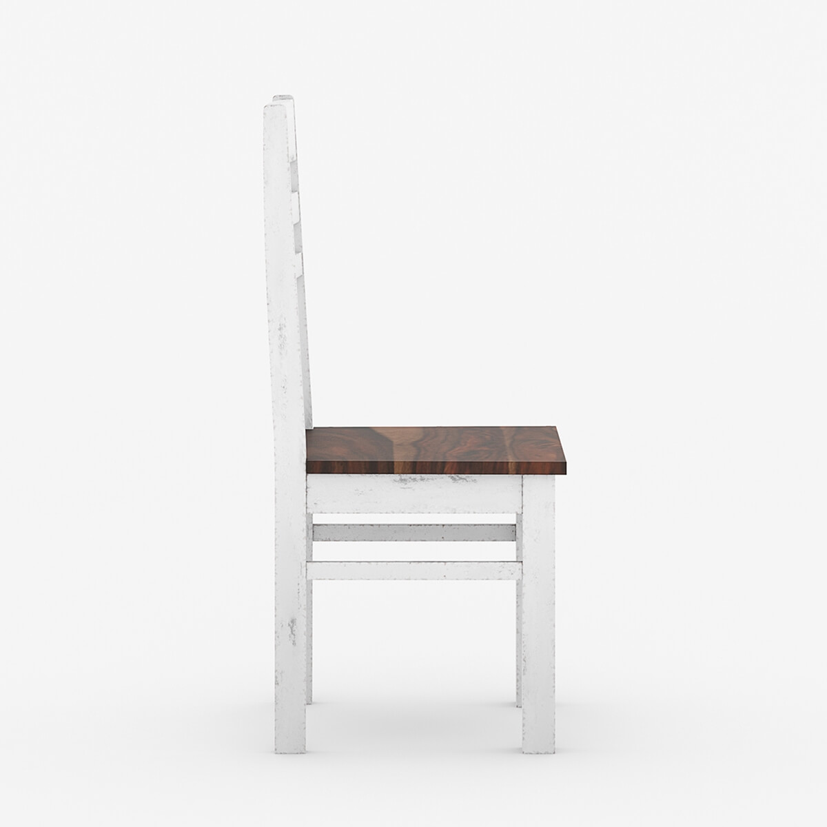 unfinished wooden chairs cheap kirklands christmas chair covers illinois modern two tone solid wood school back dining