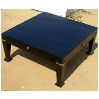 Large Solid Wood Square Black Coffee Table