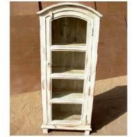 Distressed White Wood Kitchen Bathroom Storage Cabinet