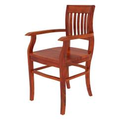 Solid Wood Chairs Desk Chair No Swivel Siena Rustic Arm Dining