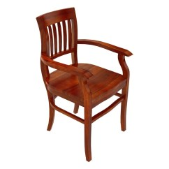 Wooden Dining Room Chairs With Arms Desk Chair At Staples Siena Rustic Solid Wood Arm
