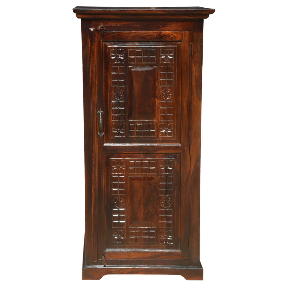 Solid Wood Computer Desk With Armoire Storage Cabinet