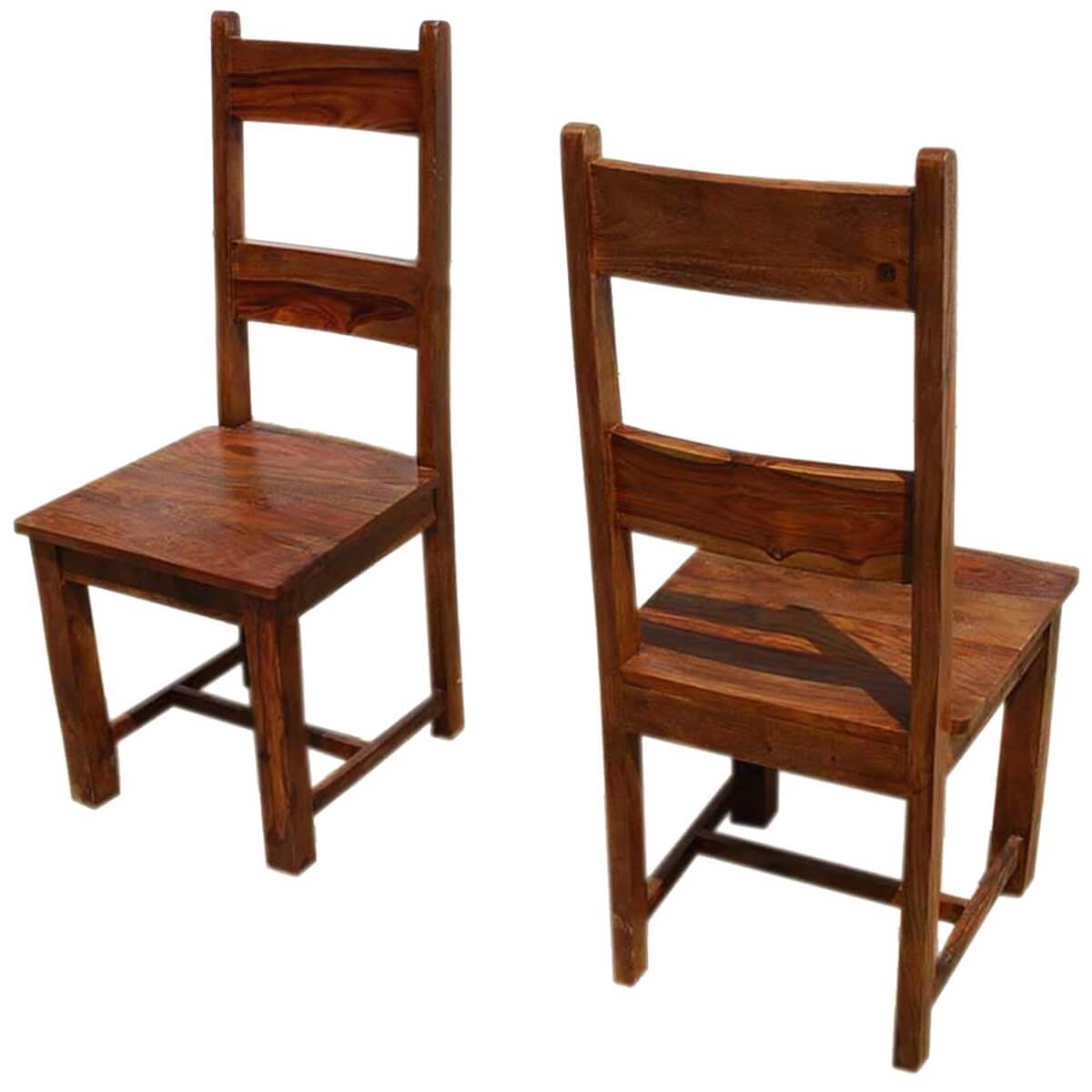 ladder back chair cane patio chairs santa cruz mission set of 2